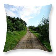 Apple Fields Throw Pillow