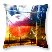 Apple In A Basket Throw Pillow