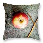Apple Joy Throw Pillow by Kim Fearheiley