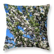 Apple Tree In Bloom Throw Pillow