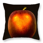 Apple With A Illuminated Heart Throw Pillow