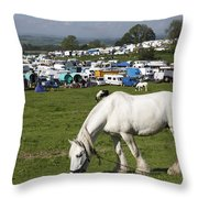 Appleby Horse Fair Throw Pillow
