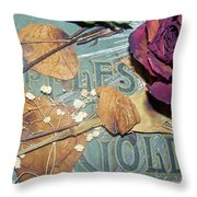 Vintage Apples Of Gold Throw Pillow