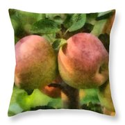 Apples Painterly Throw Pillow