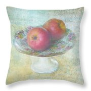 Apples Still Life Print Throw Pillow