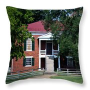 Appomattox County Court House 1 Throw Pillow by Teresa Mucha