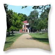 Appomattox County Court House 2 Throw Pillow by Teresa Mucha