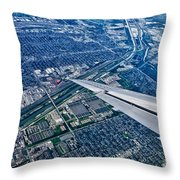 Approach Into Chicago Throw Pillow