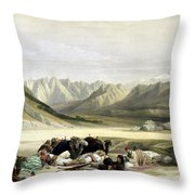 Approach To Mount Sinai Wady Barah Feby 17th 1839 Throw Pillow