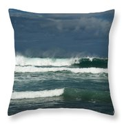 Approaching Storm In Maui Throw Pillow