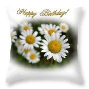 April Birthday Throw Pillow