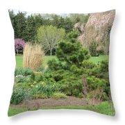 April Garden Throw Pillow