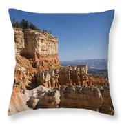 Aqua Canyon Throw Pillow