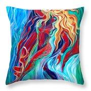 Aqua Rain Throw Pillow
