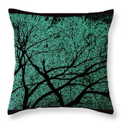 Aqua Scrub Throw Pillow