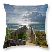 Aqua Seas Throw Pillow
