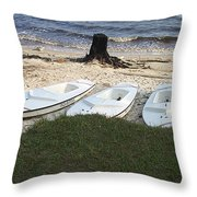 Aquafinn On River Bank Throw Pillow