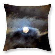 Aquarius Full Moon Throw Pillow