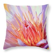 Aquatic Bloom Throw Pillow
