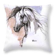 Arabian Horse Ink Drawing 1 Throw Pillow