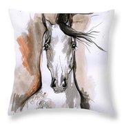 Arabian Horse Ink Drawing 2 Throw Pillow