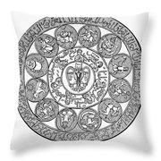 Arabic Zodiac Throw Pillow