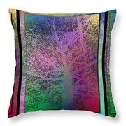 Arboreal Mist Trilogy Throw Pillow