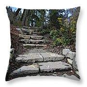 Arboretum Stairway Throw Pillow by Tim Allen