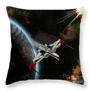 10117 Arc-170 Starfighter Throw Pillow