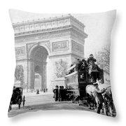 Arc De Triomphe - Paris France - C 1898 Throw Pillow