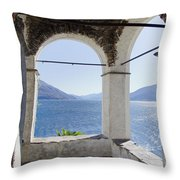 Arch And Lake Throw Pillow
