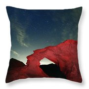 Arch And Stars Throw Pillow