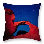 Arch In Red And Blue Throw Pillow