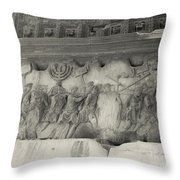 Arch Of Titus, Rome, Italy Throw Pillow