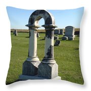 Arch Tombstone Throw Pillow