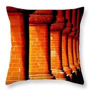 Archaic Columns Throw Pillow
