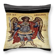 Archangel Michael Mosaic Throw Pillow