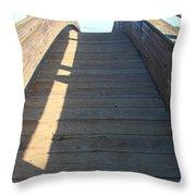 Arched Pedestrian Bridge At Martinez Regional Shoreline Park In Martinez California . 7d10525 Throw Pillow