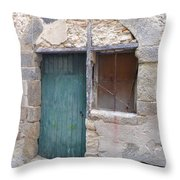 Arched Stone Work Over Door Throw Pillow