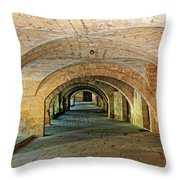Arched Walkway In Provence Throw Pillow