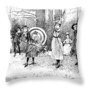 Archery, 1886 Throw Pillow