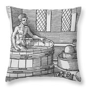 Archimedes And Hydrostatics Throw Pillow