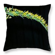 Arching Goldenrod Throw Pillow