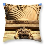 Architectural Detail . Large Urn With Lion Gargoyle  . Hearst Gym . Uc Berkeley . 7d10191 Throw Pillow