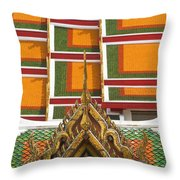 Architectural Detail Of Wat Pho Temple Throw Pillow