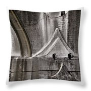 Architectural Detail Triptych Throw Pillow