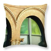 Architecture Memphis Throw Pillow