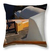 Architecture Santorini Throw Pillow
