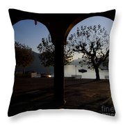 Archs And Trees Throw Pillow