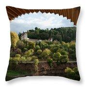 Archway Frame Throw Pillow by Lorraine Devon Wilke